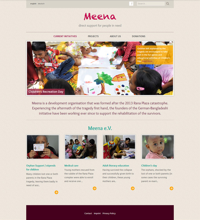 meena support website
